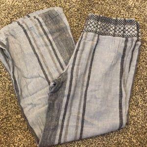 Blue beach pants
